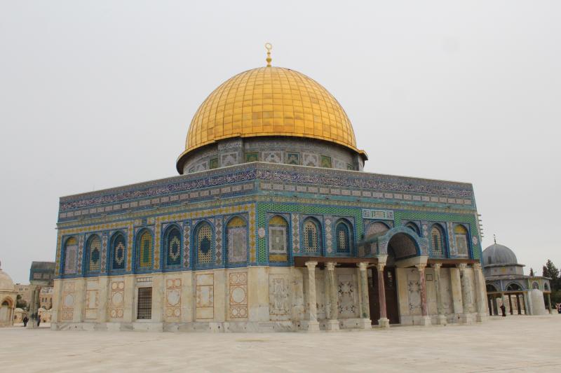 De Rotskoepel op de Tempelberg in Jeruzalem
