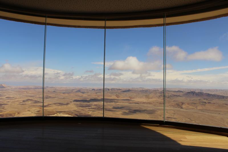 Uitzicht bij Mizpe Ramon, in de Negev