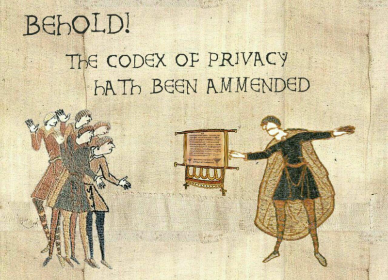 Codex of Privacu hath been ammended